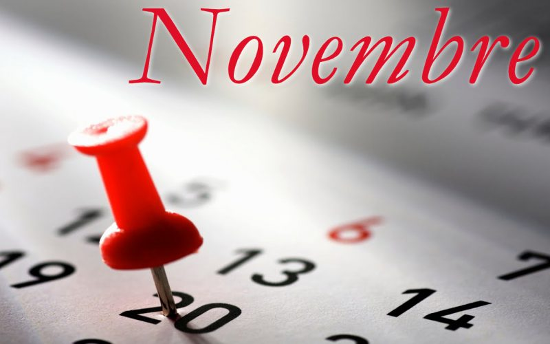Programma Novembre 2018