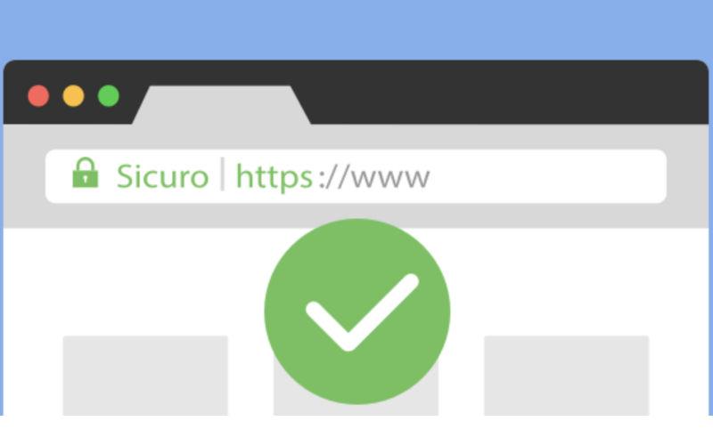 Da oggi il nostro è un sito sicuro