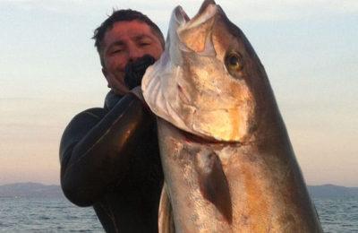 Angelo Ascione al campionato Euro-Africano di pesca in Apnea