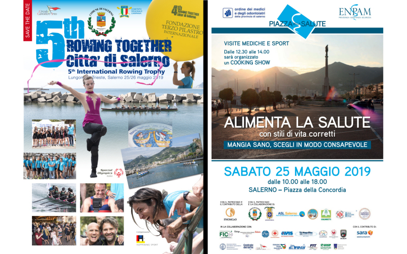 Conferenza stampa per la presentazione di Rowing Together & Alimenta la salute
