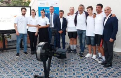 Un remoergometro in dono dal Rotary ai canottieri Special dell'Irno