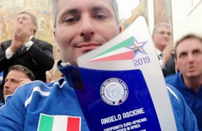 Ascione premiato al Coni per il titolo euro-africano di pesca in apnea