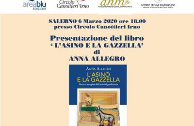 """""""L'asino e la gazzella"""", ai Canottieri la presentazione del libro di Anna Allegro"""