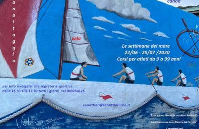 """Tornano """"Le settimane del mare"""": al via i corsi di canoa, canottaggio e vela"""